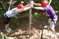 Ropes course teamwork