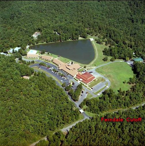 Overhead image of campus with Ferndale Cutoff labeled